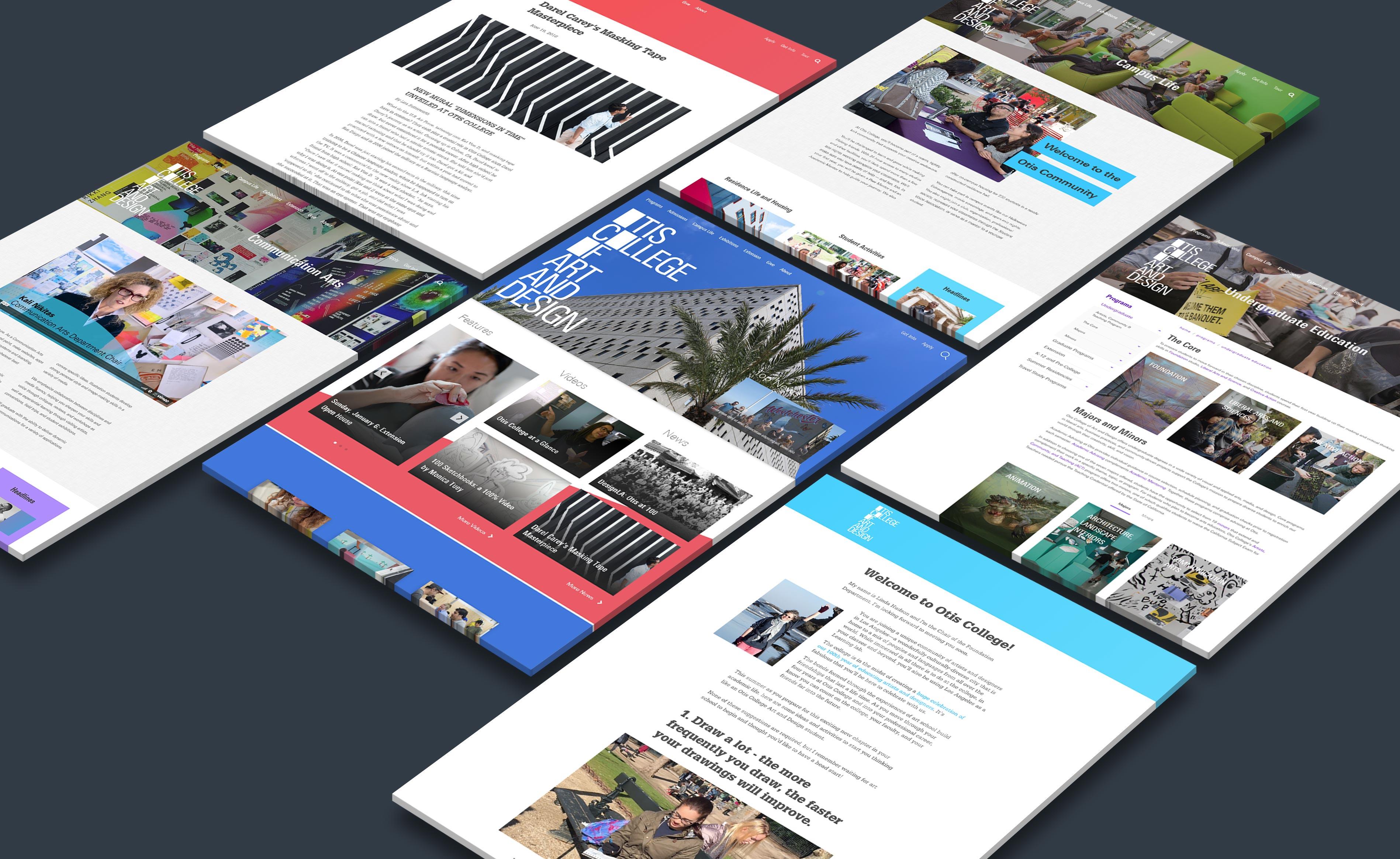 Otis College of Art and Design - Website Flat Display