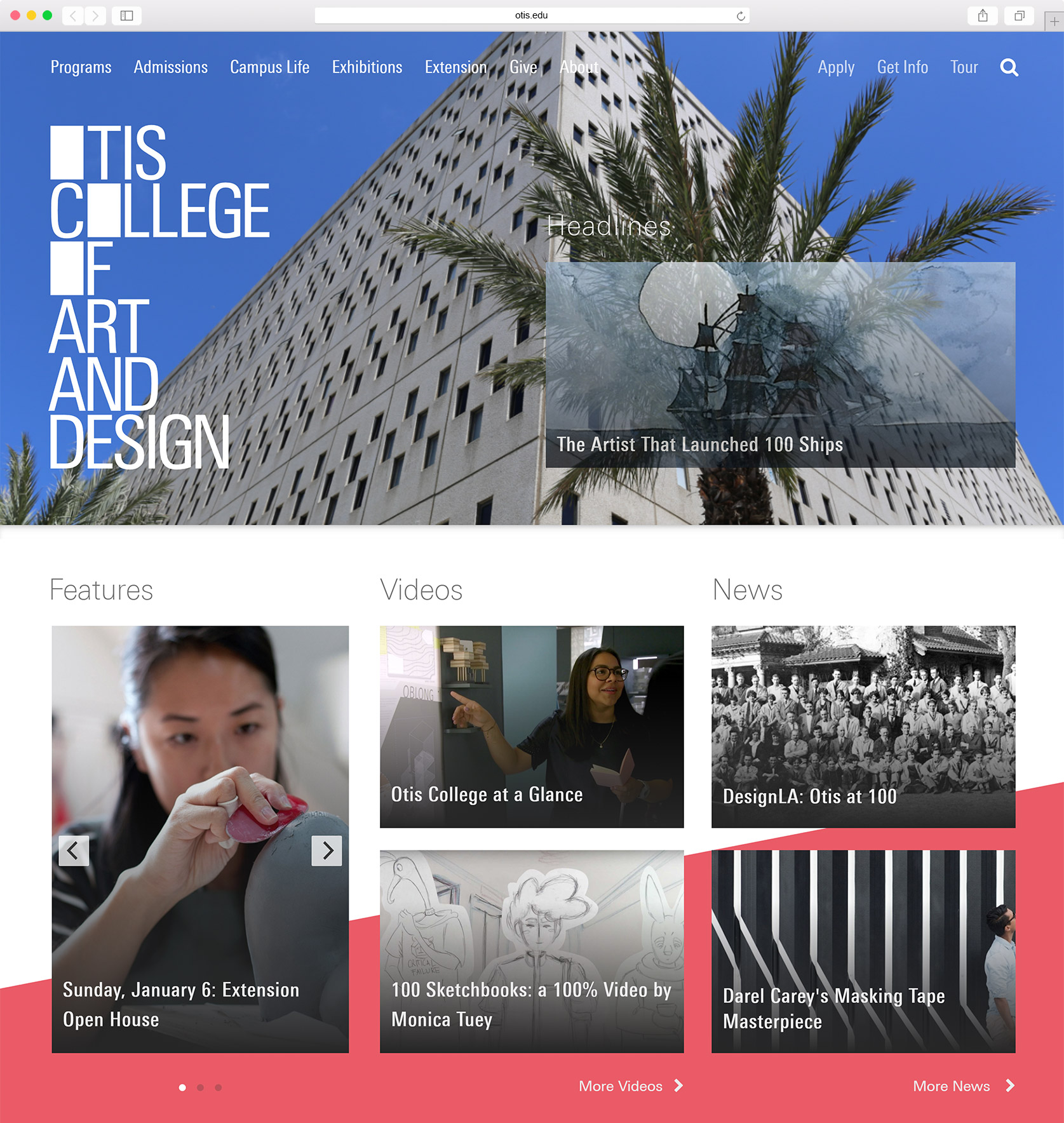 Otis College Homepage